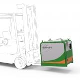 BioMant Compact einfacher Transport mit Gabelstapler
