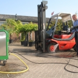 High pressure cleaning with BioMant Aqua